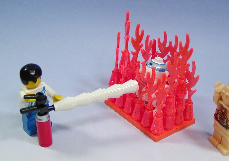 Custom minifig fire extinguisher