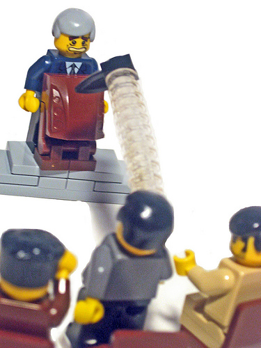 George W Bush Lego custom minifig