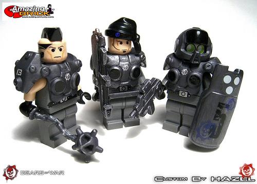 Gears of war lego minifig