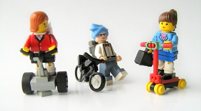 Lego custom minifig Segway