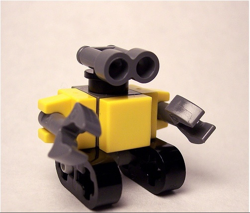 Lego custom minifig scale wallE