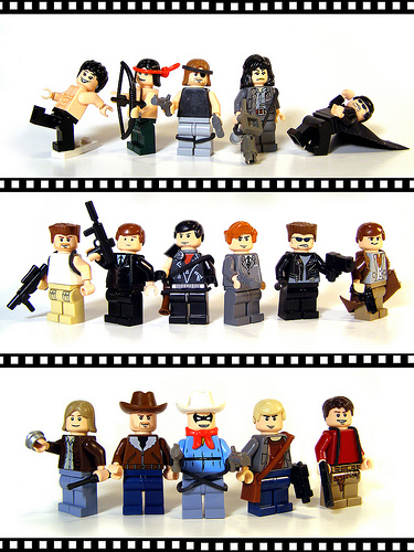 Lego custom minifigs based on film characters