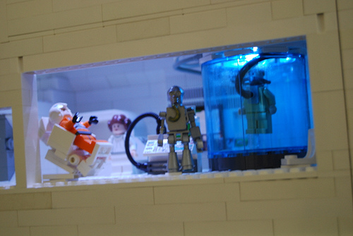 Lego Star Wars Custom Minifig Planet Hoth Vignette detail
