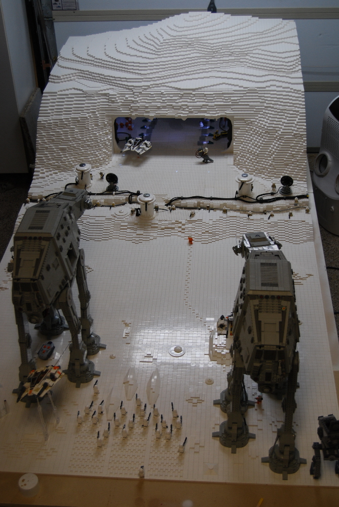 Lego Star Wars Custom Minifig Planet Hoth Vignette