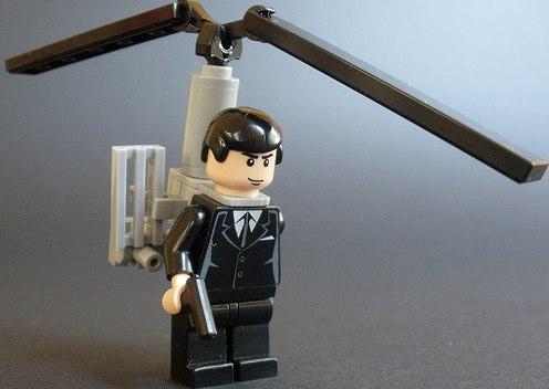 Agent Janus custom minifig helipack by obxcrew
