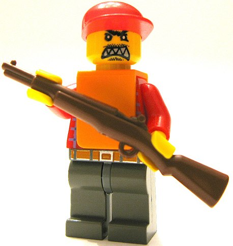 angry hunter custom minifig by sir nadroj