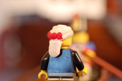 Clay Lego minifig custom wig