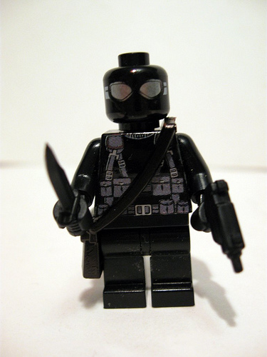 Lego custom minifig snake eyes