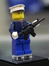 custom Marine Lego Minifig by Kaminoan