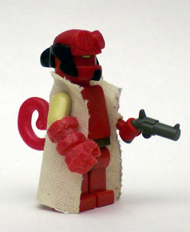 hellboy Lego custom minifig by unknown