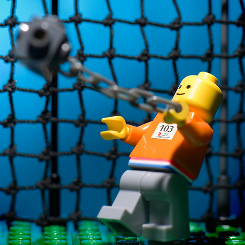 Lego olymics hammer throw custom minifig by jarod