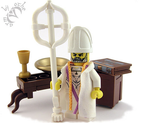 Lego bishop custom minifig by armothe