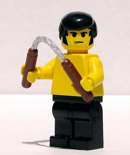 lego bruce lee custom minifig by dunechaser