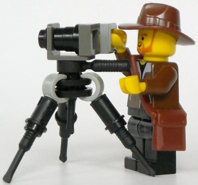 Lego custom minifig camera