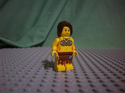 Lego custom minifig female castaway by doctorkile