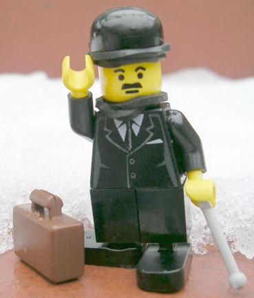 Lego Charlie Chaplin custom minifig by mijasper