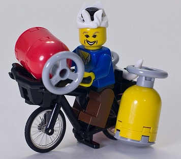 lego chinese gas man custom minifig