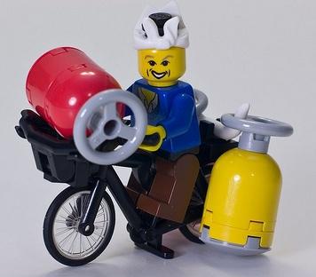 lego chinese gas man custom minifig