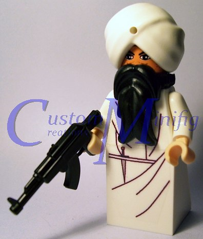 Lego custom minifig armed priest by Nirdian