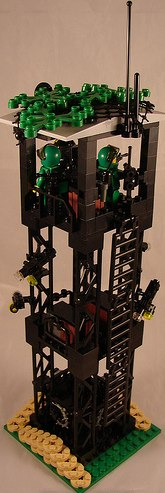 Lego custom minifig scale guard tower by Doctor Sinister