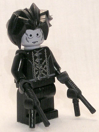 lego edward scissorhands custom minifig by corran101