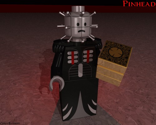 Lego virtual Hellraiser Pinhead custom minifig