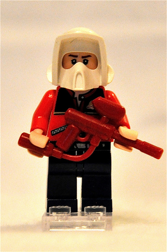 Lego Paint Baller custom minifig