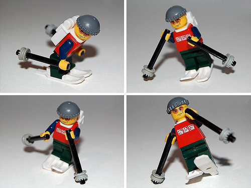Lego custom minfig Skier