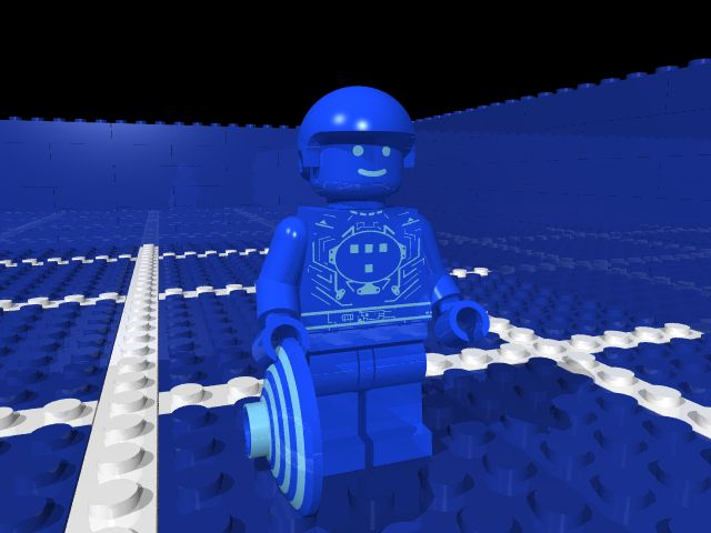 Lego Tron computer generated custom minifig