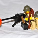 M2 Lego custom machine gun and minifig crew