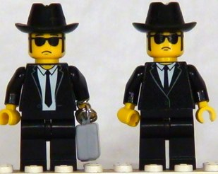 Blues brothers custom minifigs by shmails