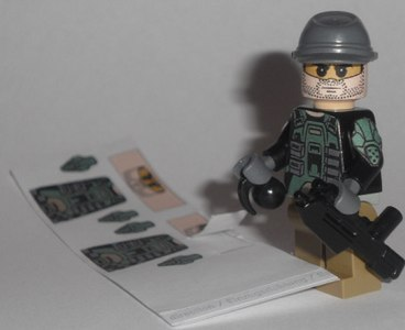 halo marine custom minifig with cool face decal by exxtrooper