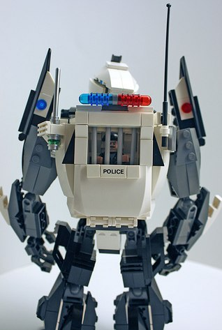 robot police minifig jail by brent waller