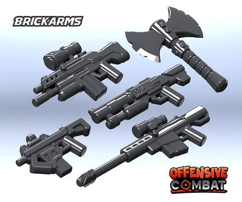 Brickarms offensive combat prototypes custom lego minifigures