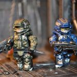 Halo 4 Green vs Blue Custom Minifigures