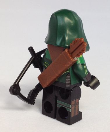 Minifigs4u Emerald Archer Custom Minifigure Back