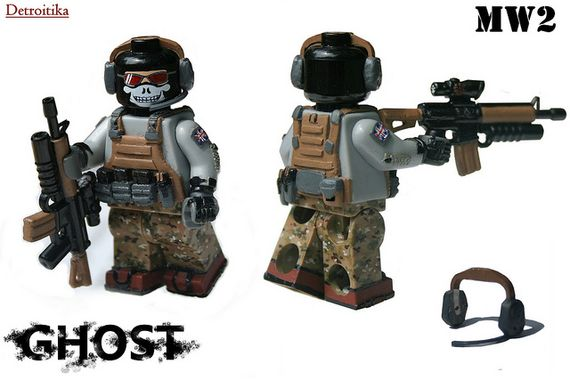 MW2 Ghost Custom Minifigures