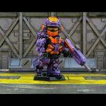 Purple Halo 4 Warrior Custom Minifigure By Geoshift