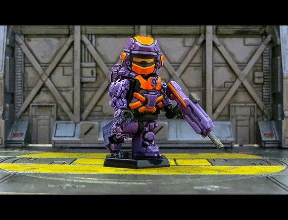Purple Halo 4 Warrior Custom Minifigure