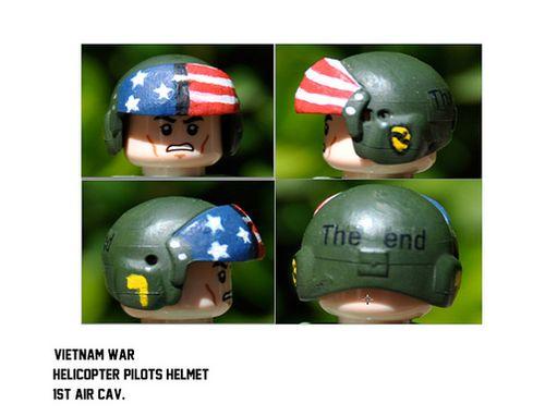 Vietnam War Helicopter Pilots Helmet   Custom LEGO Minifigures