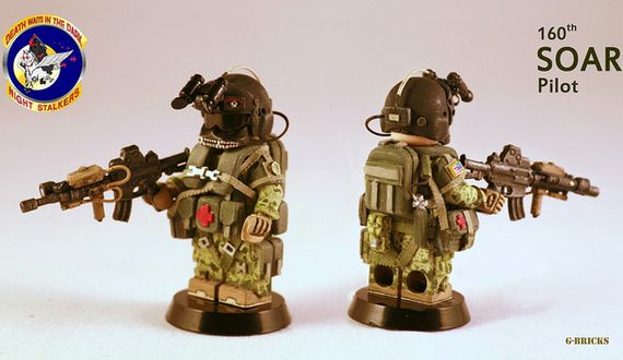 160th SOAR Night Stalker Pilot Custom Minifigure