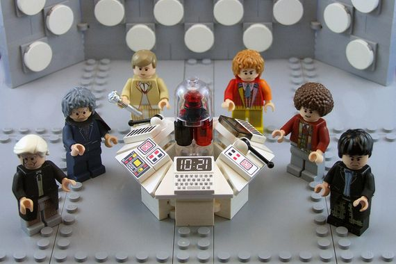 1st - 6th Doctor Custom Minifigures