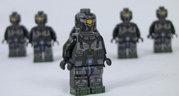 Brick Ultra Mech Pilot Custom Minifigure