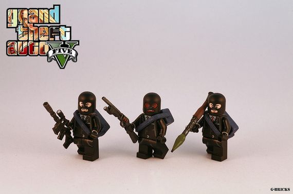Grand Theft Auto 5 Crew Custom Minifigures