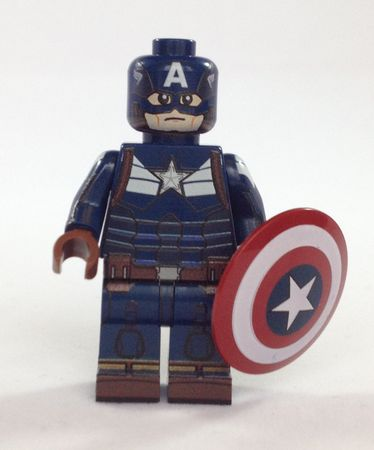 Captain Stealth Suit Minifigs4u Custom Minifigure Front