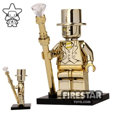 Chrome Mr Gold Custom Minifigure