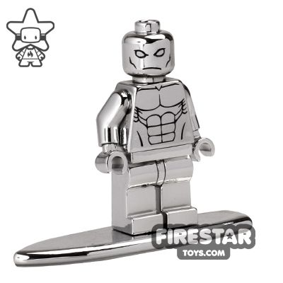 Chrome Silver Surfer Custom Minifigure