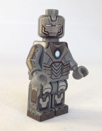 Slate Grey Armor Minifigs4u Custom Minifigure Front