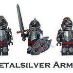 Metalsilver Armor Custom Minifigure