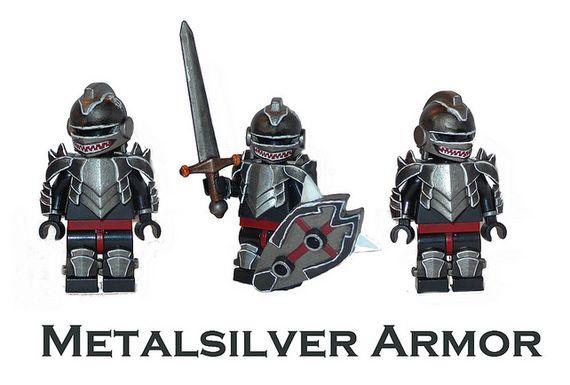 Metalsilver Armor Custom Minifigure | Custom LEGO Minifigures